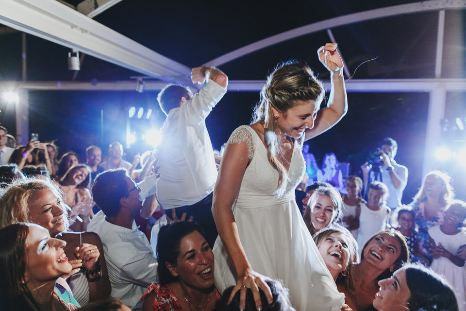 Bride and groom crazy party moments